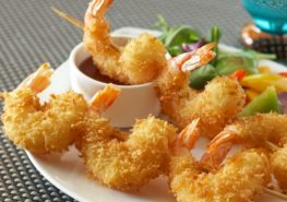 Light & Crispy Shrimp Skewers