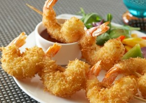 Japanese Panko breadcrumbs - Light & Crispy Shrimp Skewers