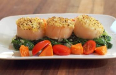 Panko Topped Baked Scallop
