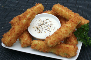 Fried Zucchini Spears