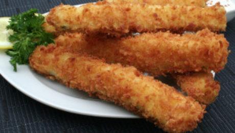 Fried Panko Zucchini Spears