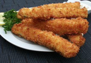 Fried Panko Zucchini Spears