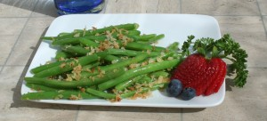 Green Beans with Crispy Panko