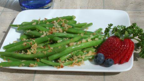 Green Beans with Crispy Panko