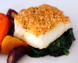 Italian Panko on Baked Fish