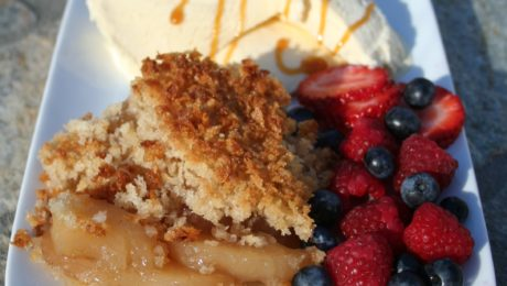 Caribbean Coconut Panko Apple Cobbler