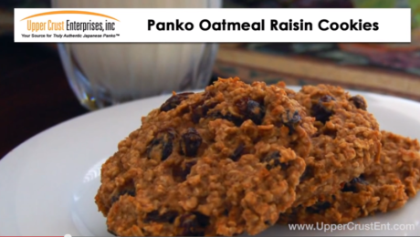 Panko Oatmeal Raisin Cookies