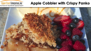 Apple crisp topped with Panko
