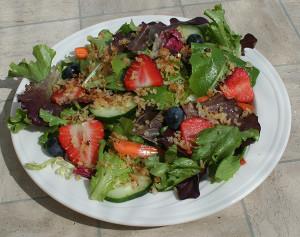 vegan panko salad