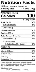 7230 Temputa Batter Mix Nutrition