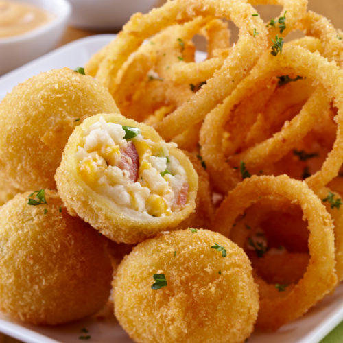 Croquettes & Onion rings