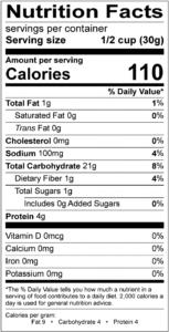Medium Grind Panko Nutrition